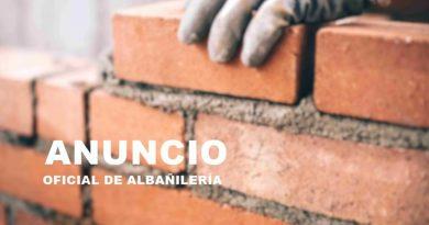 ANUNCIO | Convocatoria de selección de oficial de albañilería (bolsa de empleo)