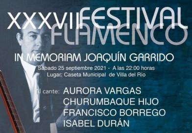 XXXVIII Festival flamenco   In memoriam Joaquín Garrido