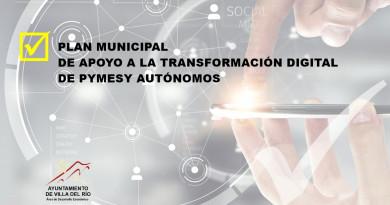 PLAN MUNICIPAL DE APOYO A LA TRANSFORMACIÓN DIGITAL DE PYMES Y AUTÓNOMOS